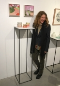 """Collaborating with Agatha Pupaher / Paintings and Ceramics with a touch of green, and a """"Common"""" theme of the Bondi Pavillion trees & environs."""