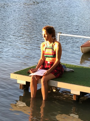 Plein air Sketching on the Murray