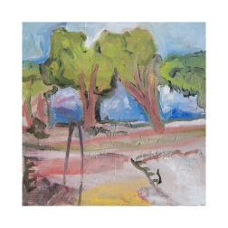 Pental Island Trees on the Levy, 2017, Oil on Canvas, 30x30