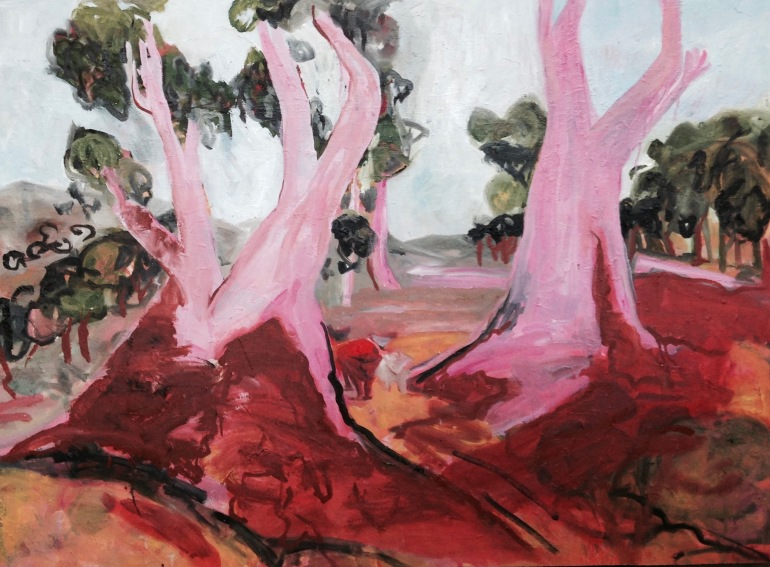 GROUND 100x100 Red Gold Coming Home after Heysen & Colyer 2019