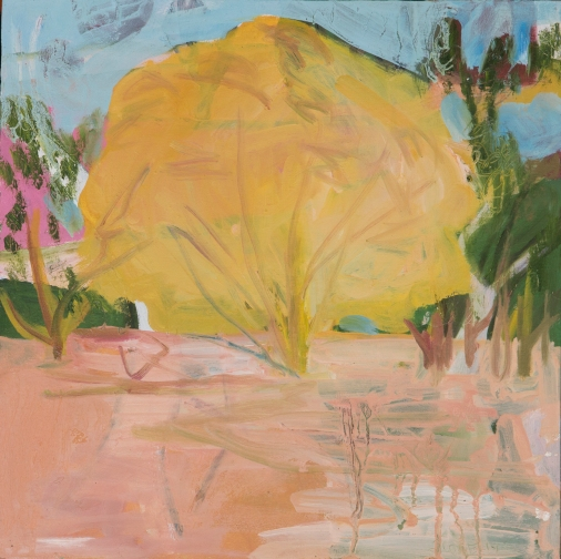 SOLD Yellow Tree, 30x30cm, $495