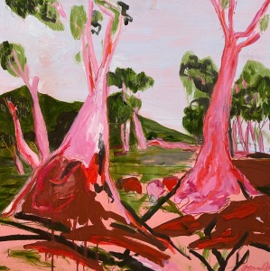 60x60 TOAF Red Pink Gold Coming Home after Heysen 2020